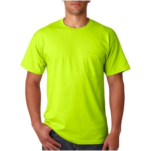 Safety Green T-Shirt with Pocket - ViewBrite Safety Products