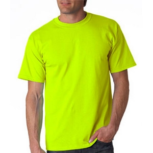 Safety Yellow Shirts >> Safety Green T Shirt Made Of Cotton Polyester