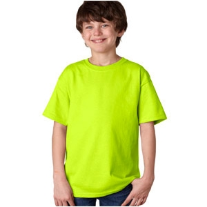 79b55c84 Safety Green T-Shirt for Youth made of Cotton & Polyester